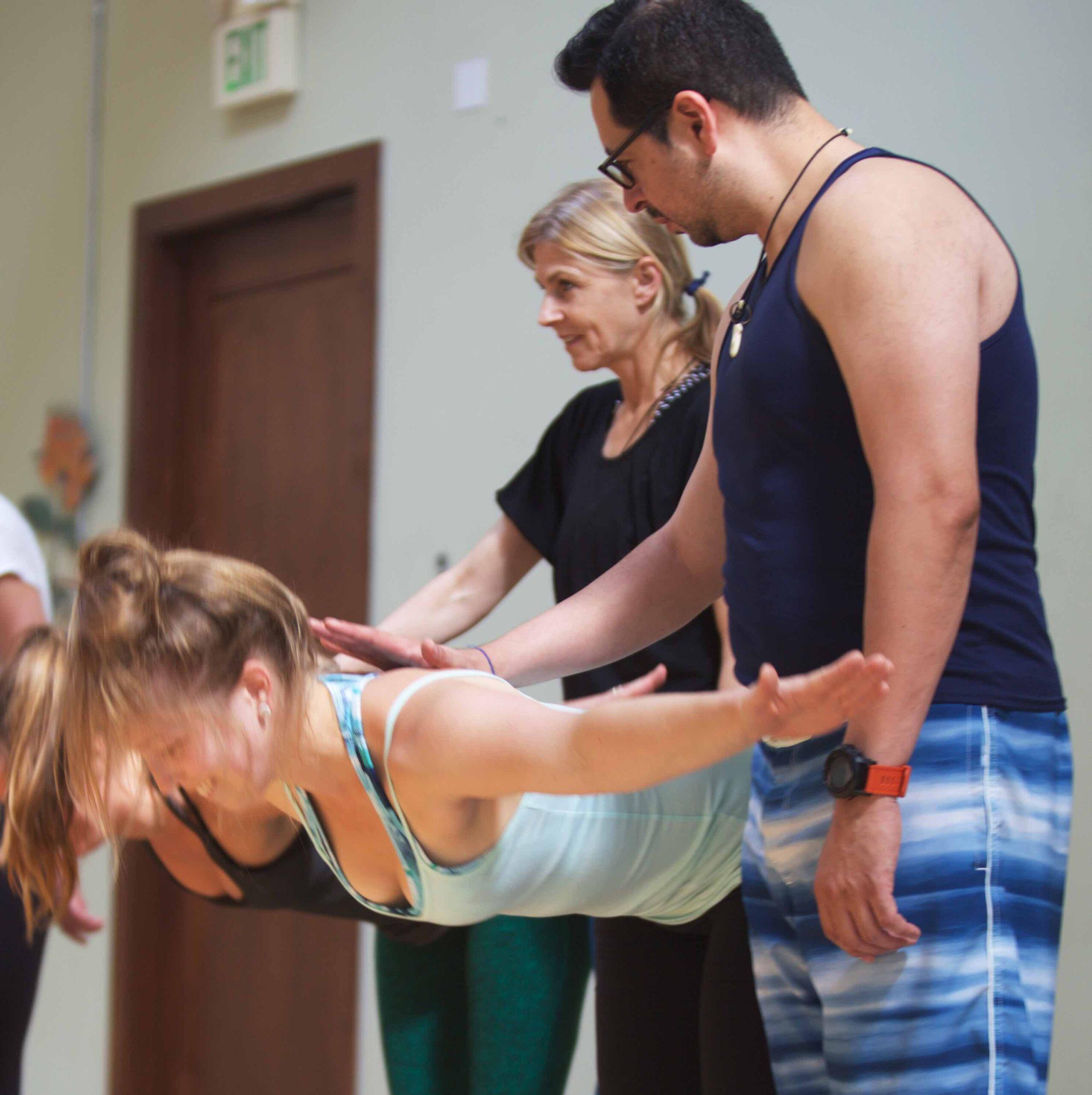 yoga teachers in training class