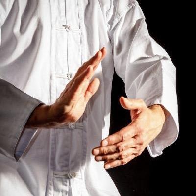 hands showing qigong movement